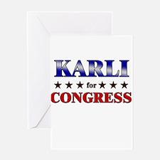 KARLI for congress Greeting Card