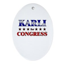 KARLI for congress Oval Ornament
