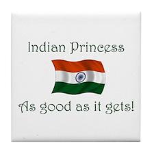 Indian Princess Tile Coaster