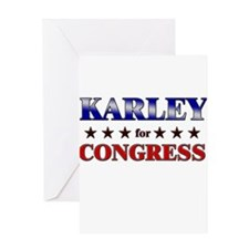 KARLEY for congress Greeting Card
