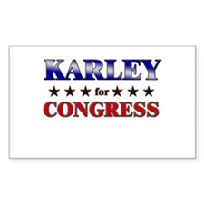 KARLEY for congress Rectangle Decal