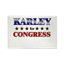 KARLEY for congress Rectangle Magnet