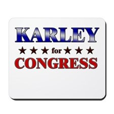 KARLEY for congress Mousepad
