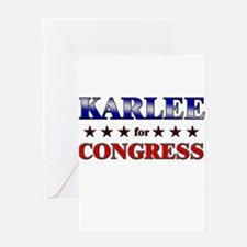 KARLEE for congress Greeting Card