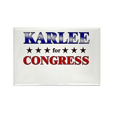 KARLEE for congress Rectangle Magnet