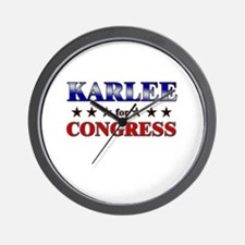 KARLEE for congress Wall Clock