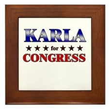 KARLA for congress Framed Tile