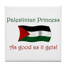 Palestinian Princess Tile Coaster