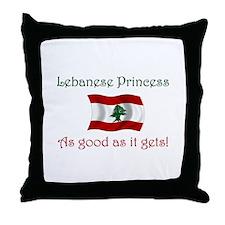 Lebanese Princess Throw Pillow