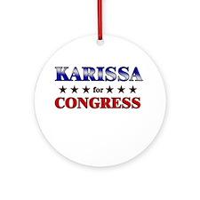 KARISSA for congress Ornament (Round)