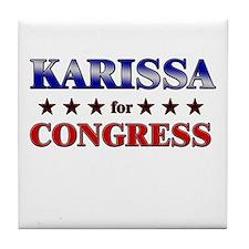 KARISSA for congress Tile Coaster