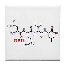 Neil name molecule Tile Coaster