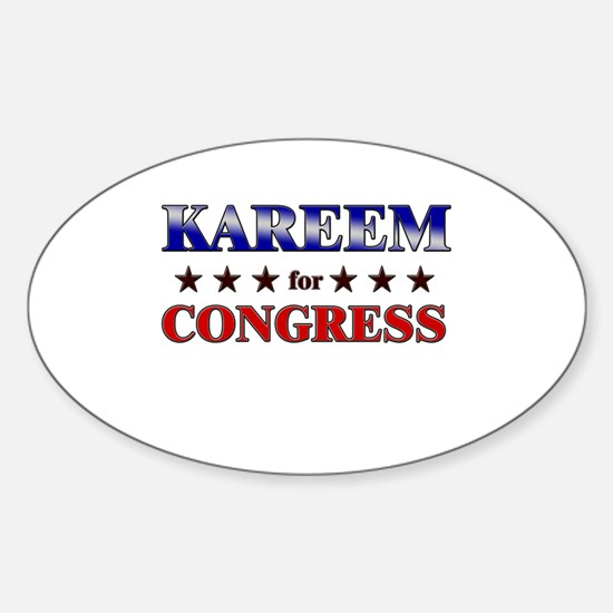 KAREEM for congress Oval Decal