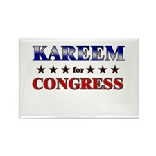 KAREEM for congress Rectangle Magnet