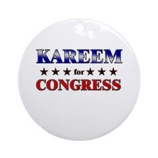 KAREEM for congress Ornament (Round)