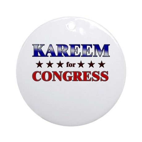 KAREEM for congress Ornament (Round)