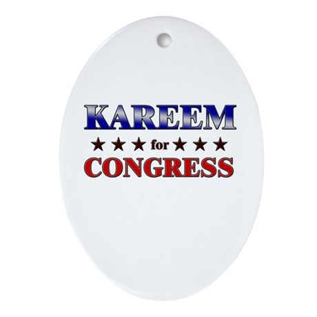 KAREEM for congress Oval Ornament