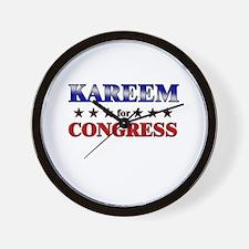 KAREEM for congress Wall Clock