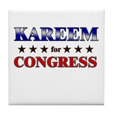 KAREEM for congress Tile Coaster