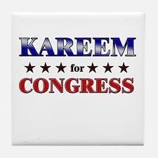 KAREEM for congress Tile Coaster