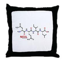 Neil name molecule Throw Pillow