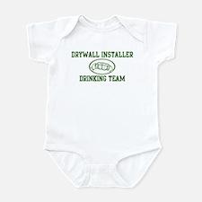 Drywall Installer Drinking Te Infant Bodysuit
