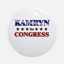 KAMRYN for congress Ornament (Round)