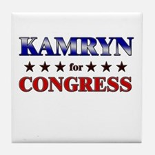 KAMRYN for congress Tile Coaster