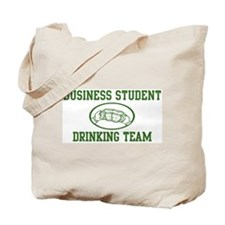 Business Student Drinking Tea Tote Bag