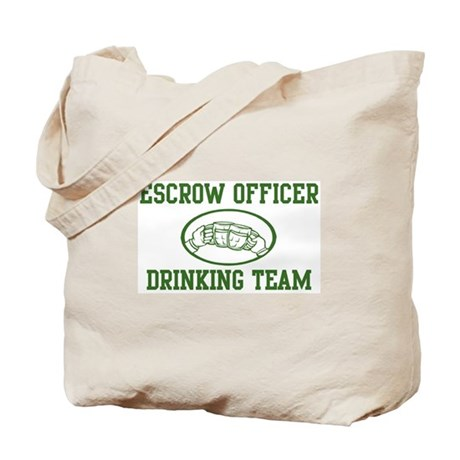 Escrow Officer Drinking Team Tote Bag