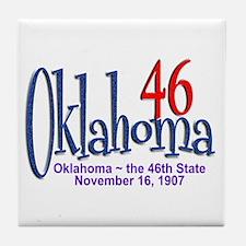 Oklahoma 46 Tile Coaster