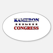KAMERON for congress Oval Decal