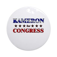 KAMERON for congress Ornament (Round)