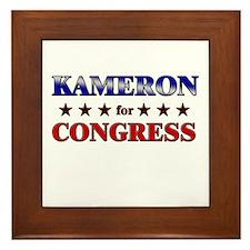 KAMERON for congress Framed Tile