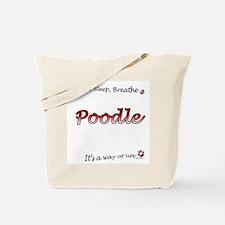 Poodle Breathe Tote Bag