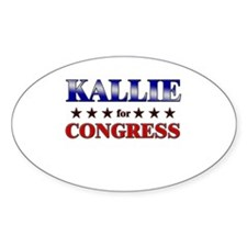 KALLIE for congress Oval Decal