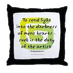 Duty of the Artist II Throw Pillow