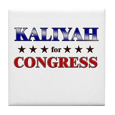 KALIYAH for congress Tile Coaster