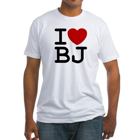 I Heart BJ Mens Fitted T-Shirt