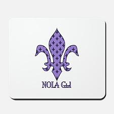 NOLA Girl Fleur de lis (purple) Mousepad