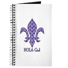 NOLA Girl Fleur de lis (purple) Journal