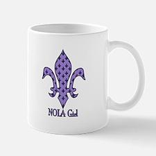 NOLA Girl Fleur de lis (purple) Mug