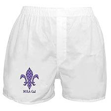 NOLA Girl Fleur de lis (purple) Boxer Shorts