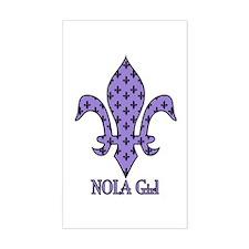 NOLA Girl Fleur de lis (purple) Sticker (Rectangul