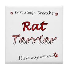 Rat Terrier Breathe Tile Coaster
