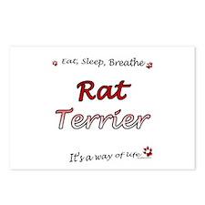 Rat Terrier Breathe Postcards (Package of 8)