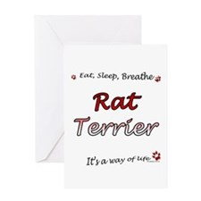 Rat Terrier Breathe Greeting Card
