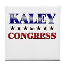 KALEY for congress Tile Coaster