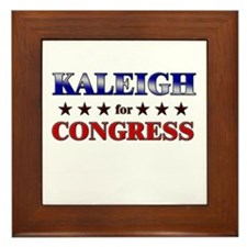 KALEIGH for congress Framed Tile