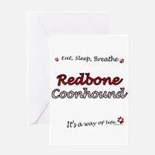 Coonhound Breathe Greeting Card